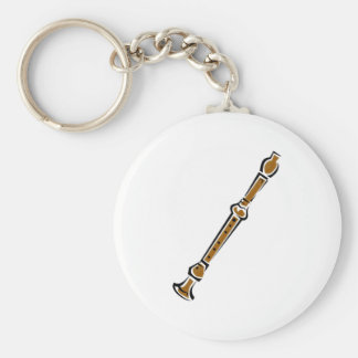 Recorder Basic Round Button Key Ring