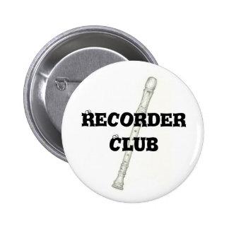 Recorder Club Pins