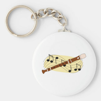 Recorder Instrument Key Chains