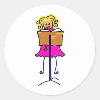Recorder Kid Classic Round Sticker