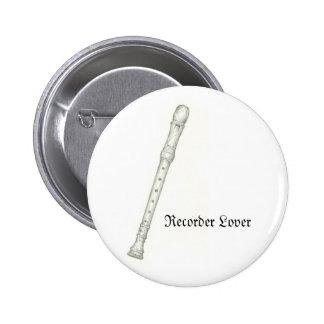 Recorder Lover 6 Cm Round Badge