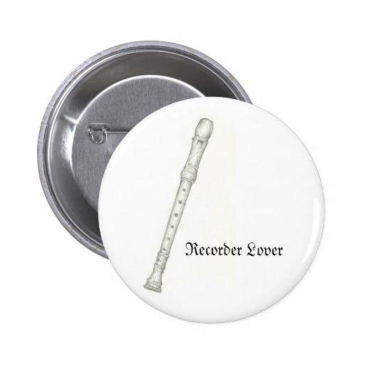 Recorder Lover Pin