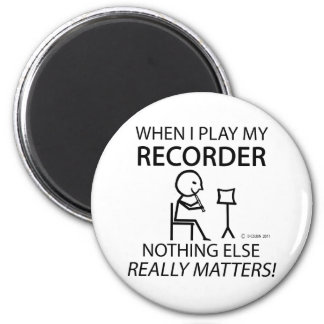 Recorder Nothing Else Matters 6 Cm Round Magnet