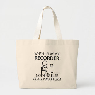 Recorder Nothing Else Matters Tote Bags