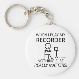 Recorder Nothing Else Matters Basic Round Button Key Ring