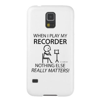 Recorder Nothing Else Matters Galaxy S5 Cases