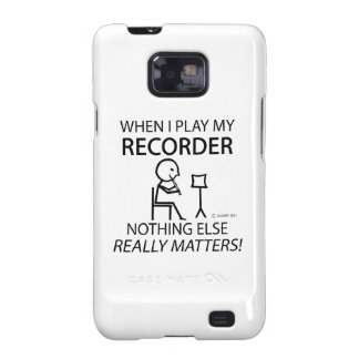 Recorder Nothing Else Matters Samsung Galaxy SII Covers