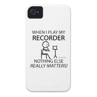 Recorder Nothing Else Matters iPhone 4 Case