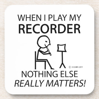 Recorder Nothing Else Matters Drink Coasters