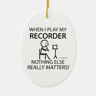 Recorder Nothing Else Matters Christmas Ornament