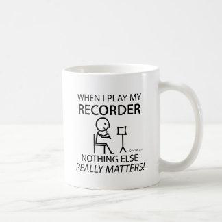 Recorder Nothing Else Matters Basic White Mug