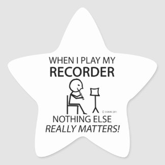 Recorder Nothing Else Matters Star Sticker