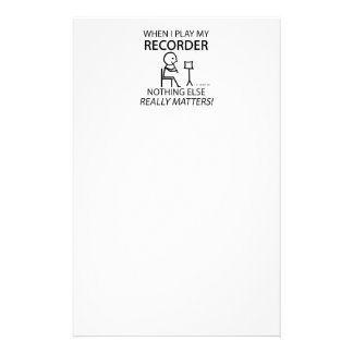 Recorder Nothing Else Matters Stationery Design