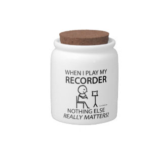 Recorder Nothing Else Matters Candy Jar