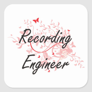 Recording Engineer Artistic Job Design with Butter Square Sticker