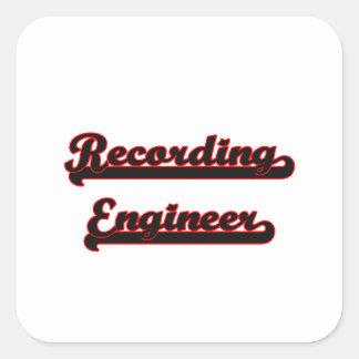 Recording Engineer Classic Job Design Square Sticker