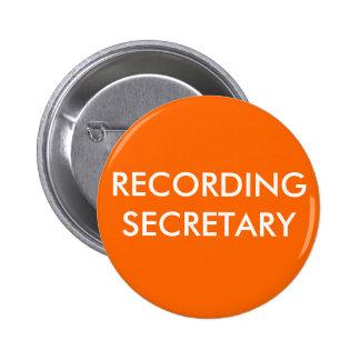 RECORDING SECRETARY PINS