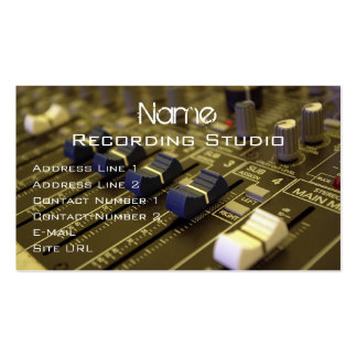 Recording Studio Business Card Business Cards