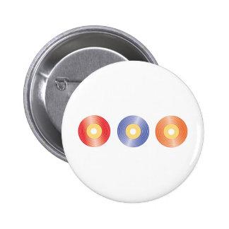 Records Pinback Button