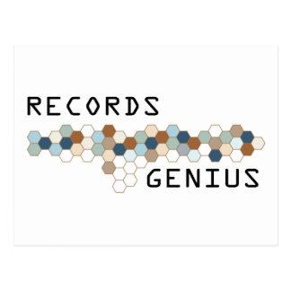 Records Genius Postcard