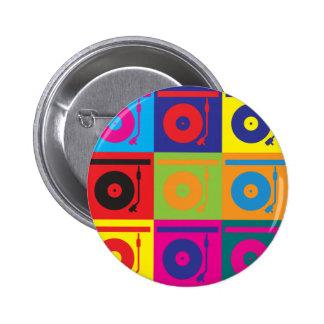 Records Pop Art 6 Cm Round Badge