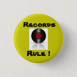 Records Rule ! 3 Cm Round Badge