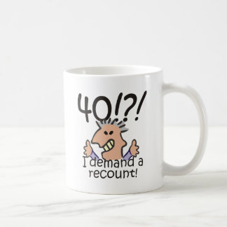 Recount 40th Birthday Coffee Mug