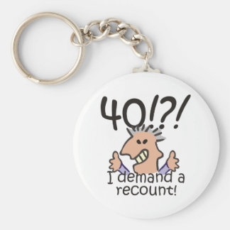 Recount 40th Birthday Key Ring