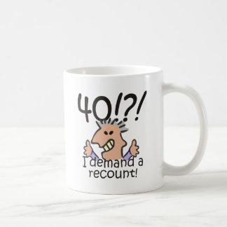 Recount 40th Birthday Mugs