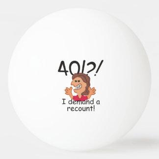 Recount 40th Birthday Ping Pong Ball