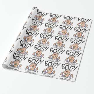 Recount 60th Birthday Wrapping Paper