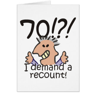 Recount 70th Birthday Card