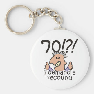 Recount 70th Birthday Key Ring