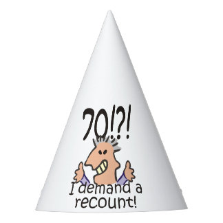 Recount 70th Birthday Party Hat