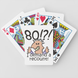 Recount 80th Birthday Bicycle Playing Cards