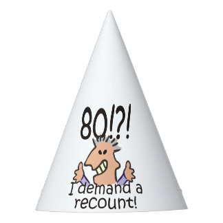 Recount 80th Birthday Party Hat