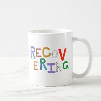 Recovering healing new beginning funky word art mugs