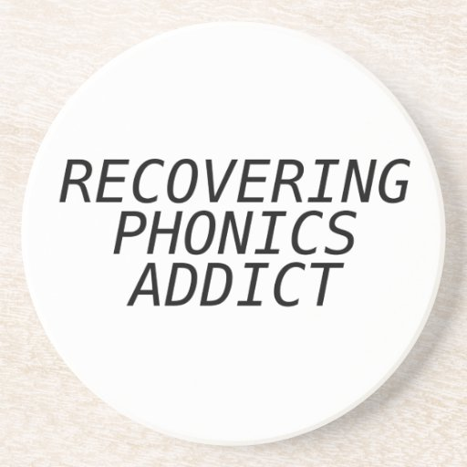 Recovering Phonic Addict Drink Coasters
