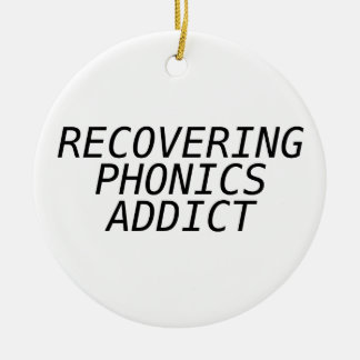 Recovering Phonic Addict Christmas Tree Ornament