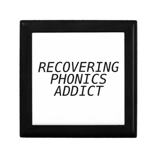 Recovering Phonic Addict Keepsake Box