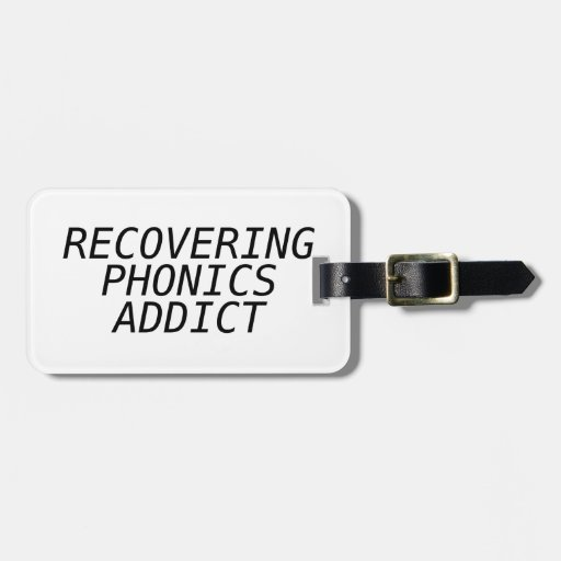 Recovering Phonic Addict Tag For Luggage