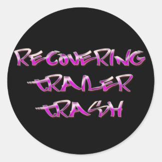 Recovering Trailer Trash Round Sticker