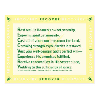 Recovery (Acrostic) Postcard