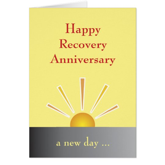 Recovery Anniversary Card