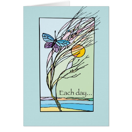 Recovery Each Day Butterfly Birthday Card