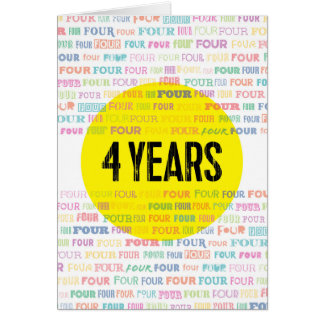 Recovery Greeting Card: 4 Years Card