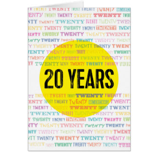 Recovery Greeting Cards: 20 Years Card