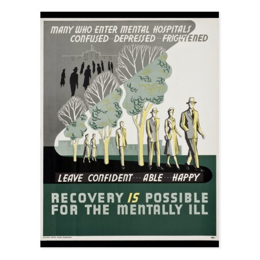 Recovery is Possible for the Mentally Ill Post Cards