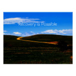 Recovery is Possible poster/Motivational II Poster
