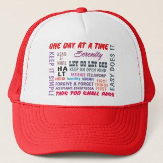 recovery slogans trucker hat